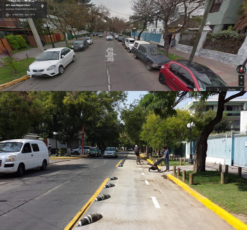 Miguel Claro, mucho mejor con ciclovía que con autos abandonados. @Muni_provi @jschaulsohn @mfc_oficial @mueveteStgo http://t.co/mBT1yJOCB6