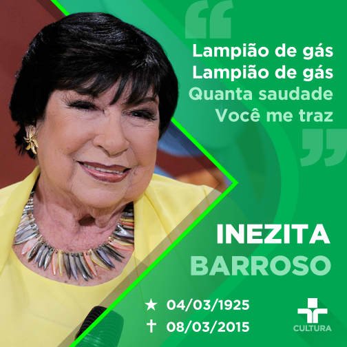 Morreu na noite deste domingo (8) Inezita Barroso. Descanse em paz, Inezita <3 http://t.co/gcLf1tY6HI http://t.co/73l5GpgNvN