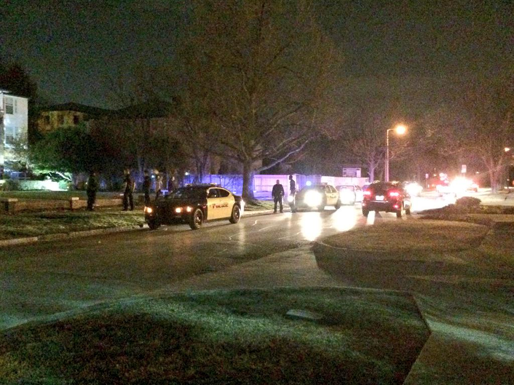 BREAKING: OU police swarm around #SAE frat house. Protection? Being forced out? #SAEHatesMe http://t.co/Hi0YScMKar