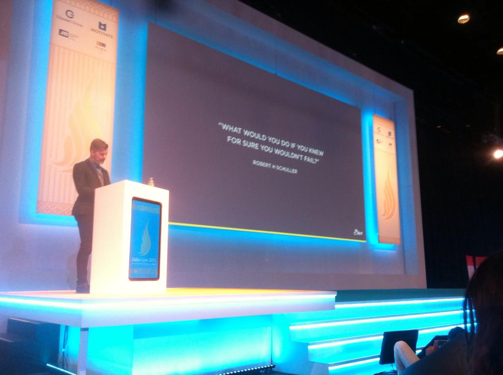 "Ash Bendelow from Brave on the importance of taking risks, ""Desperation is too often the agent for change"" #DubaiLynx http://t.co/RlBkpixbkx"