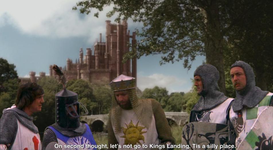 Fascinating new screenshot from #GoT #GameOfThrones season 5. @GRRM @EricIdle http://t.co/KKlK29rqhu
