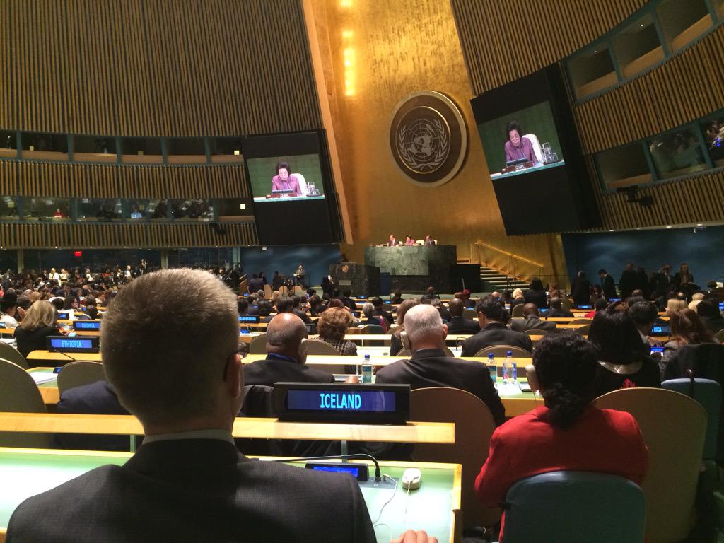 RT @IcelandUN: Iceland at the Opening session of the 59th Session of @UN_CSW.  #CSW59 to focus on implementation of #Beijing20 http://t.co/EseNY4Ae0K