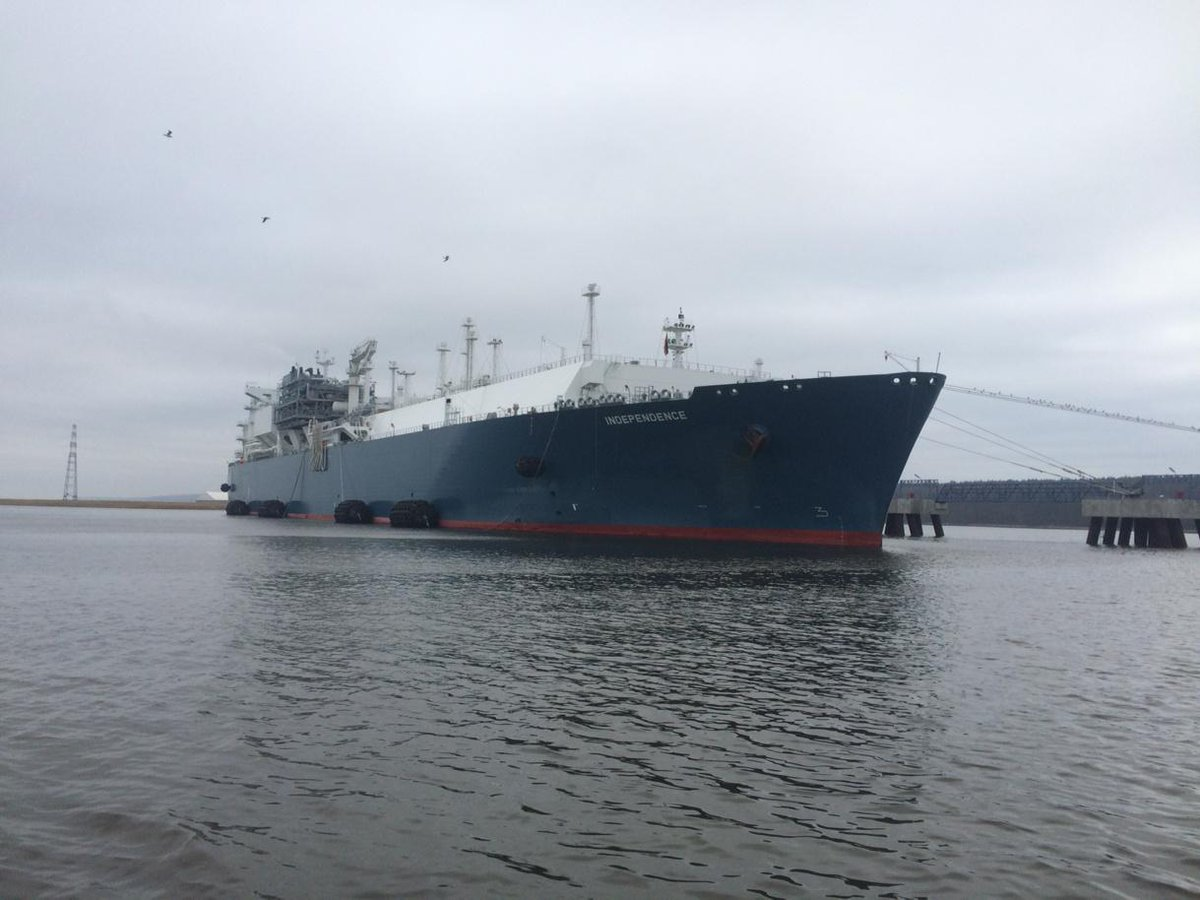 The LNG import terminal in Klaipeda, Lithuania. It is named Independence. http://t.co/RnAZ2YsmkV