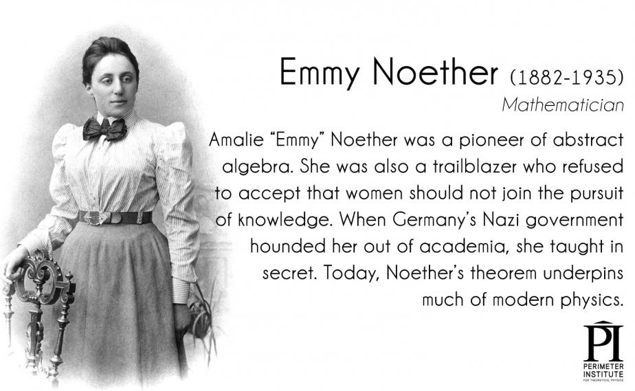 Emmy Noether has been called the most important woman in mathematics; her theorem underpins #physics. Via @Perimeter. http://t.co/jnBpUNFSjt