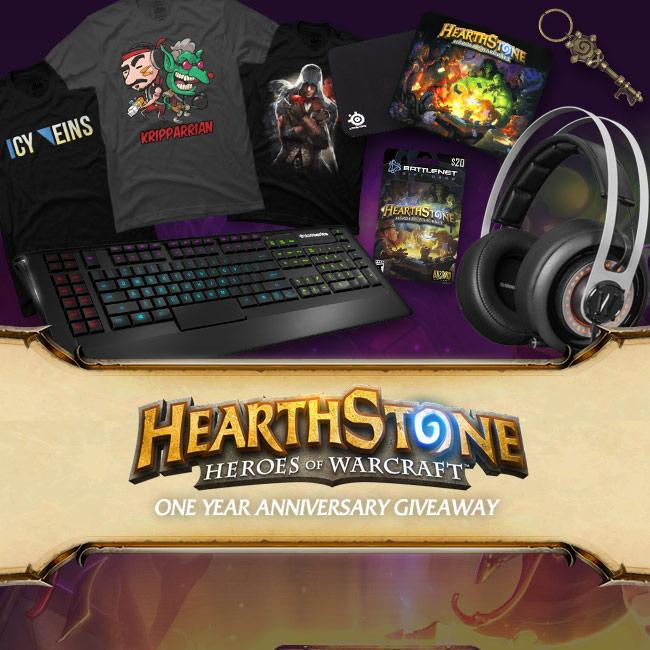 In celebration of @PlayHearthstone's 1 Year anniversary we've put together a HUGE #giveaway! http://t.co/hW83zAUYEs http://t.co/6idjPCxN9L
