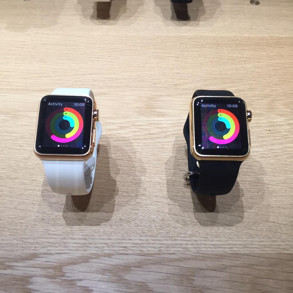 A peek at the #AppleWatch ... #AppleEvent http://t.co/klv3GFXdnY