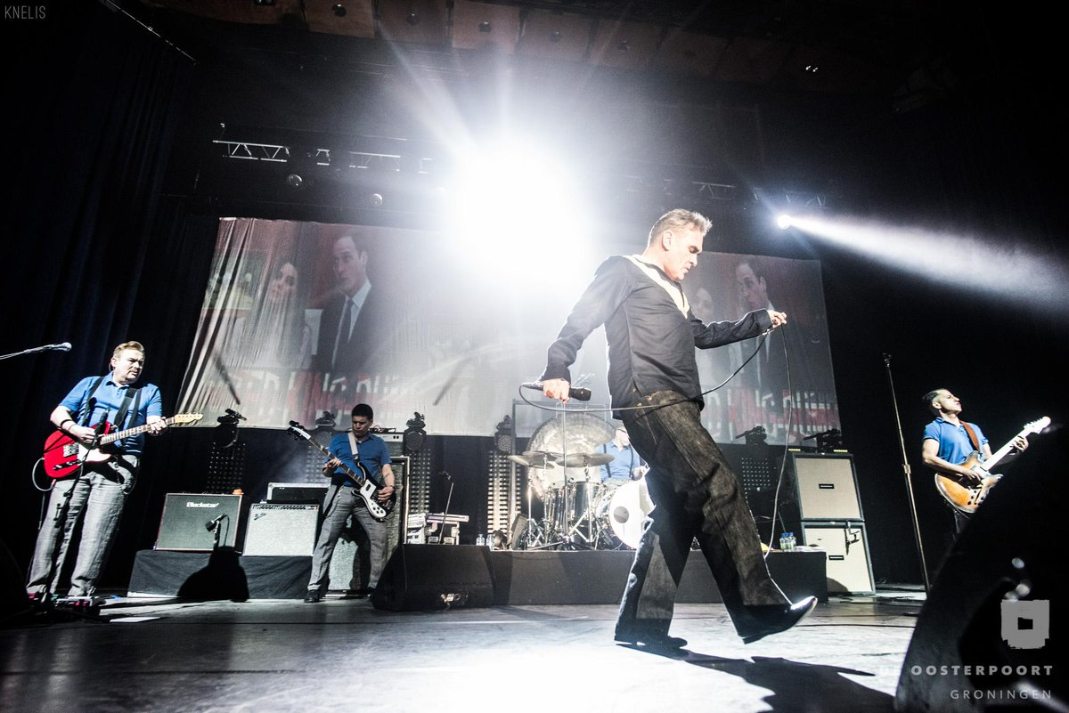 Morrissey on stage in #Groningen, NL. @MorrisseyNews  Photoalbum: http://t.co/j8LbRRsm6J http://t.co/HMxH42HFIp