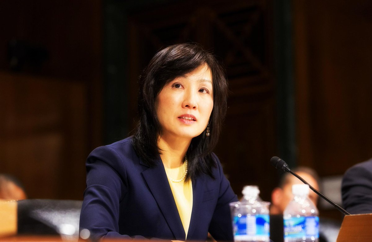 Senate confirms Michelle K. Lee as director of @USPTO, 1st woman to lead agency. #WHM #makinghistory http://t.co/Q5NGBOAbc3