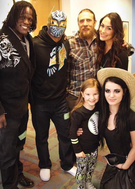 Thanks @StephMcMahon, @WWEDanielBryan, @RealPaigeWWE, @SinCaraWWE, @RonKillings, & @BellaTwins for visiting today! http://t.co/ykWkueZ4ZC