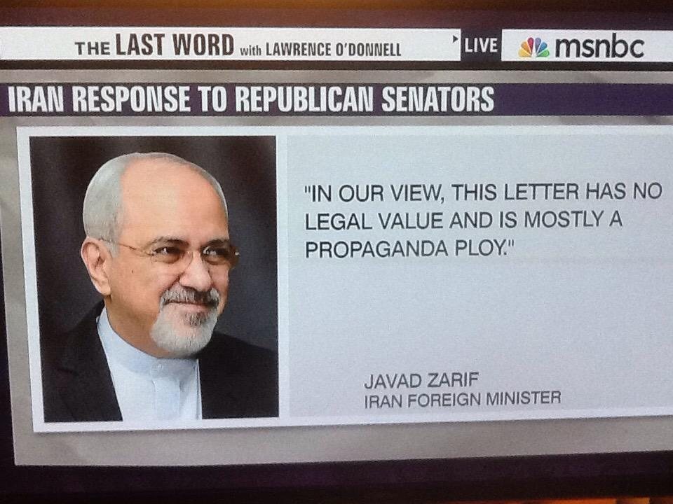 To those 47 Republicans who sent #IranLetter HERE IS YOUR REPLY  They know more abt how US Gov wks than you @cspanwj http://t.co/7nBBAs8d2w