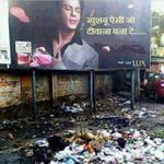 Dear Lux, better change location of, or remove this hoarding before #ShahRukhKhan sees it. Pic courtesy:@tanuj_garg http://t.co/Hz27h47IZm