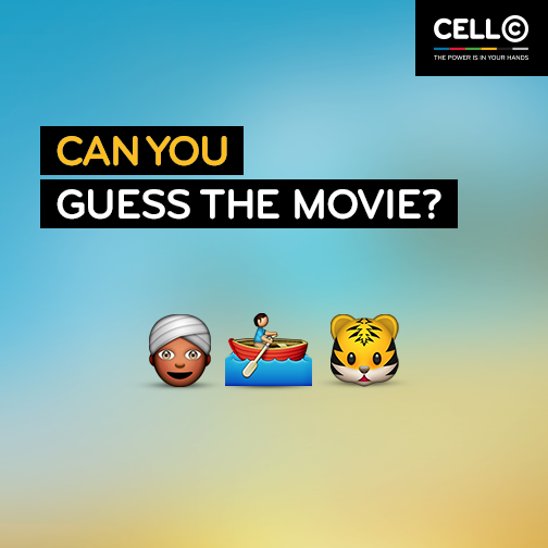 WIN! Stand a chance to win R500 Cell C prepaid airtime. Simply guess the movie: T&C's Apply: http://t.co/SBQ4W2LwCs http://t.co/wIwtH7wuat