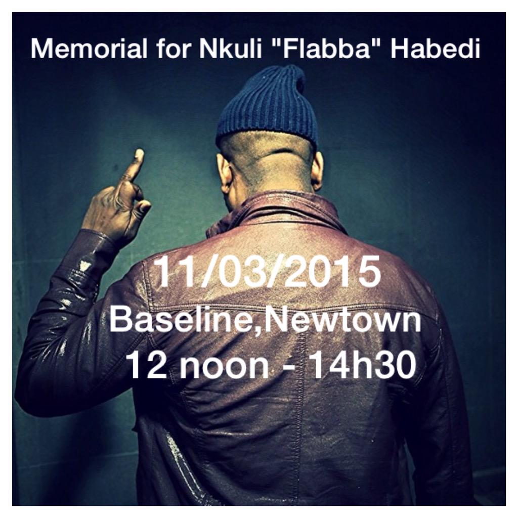 Memorial details for Flabba. Pls come thru, repost & share. Thank u.
