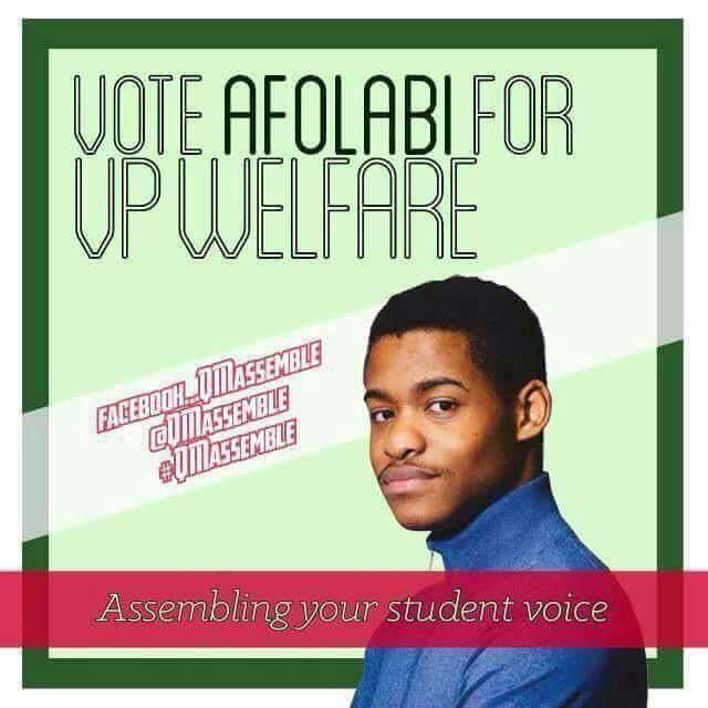 #Afolabi4VPWelfare #qmelections http://t.co/EUPz6GlX7P