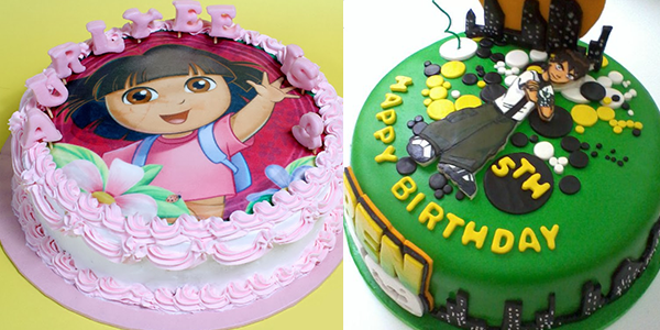 Which cartoon character does your child want on their birthday cakes