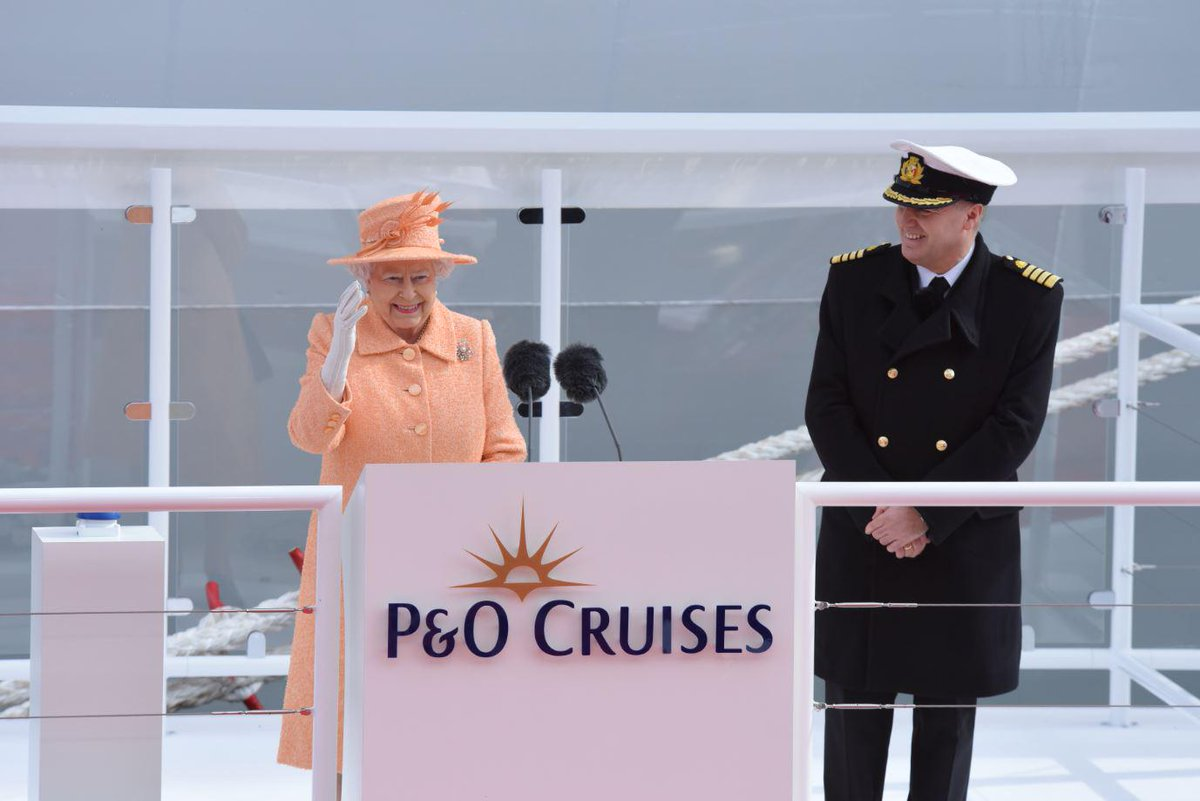 We are delighted to announce that Her Majesty The Queen has officially named #Britannia. http://t.co/PPluMtqfDz