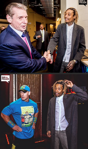 Wiz Khalifa​ with John Cena and Vince McMahon​. http://t.co/okCq6joYUI