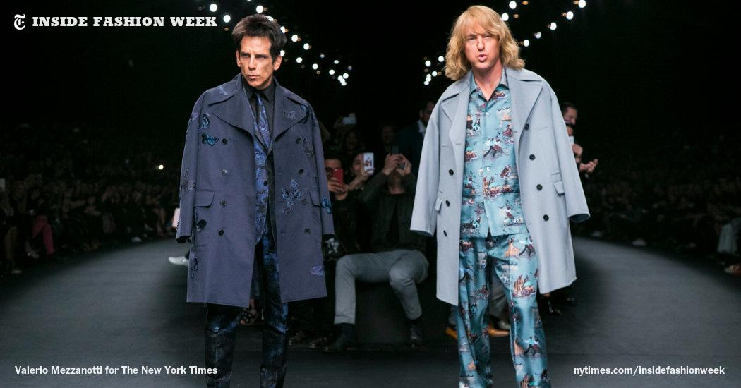 Ben Stiller & Owen Wilson killed it on the Valentino runway. #Zoolander2 http://t.co/0h1zlzk0lw http://t.co/0JYCG7LxlM