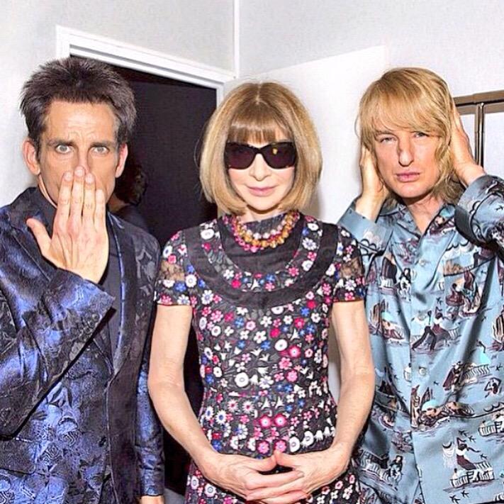 Loved @RedHourBen & @owenwilson1 & #AnnaWintour #Zoolander2 #fashion @MaisonValentino #cool #glam http://t.co/zEvoeJrXAj