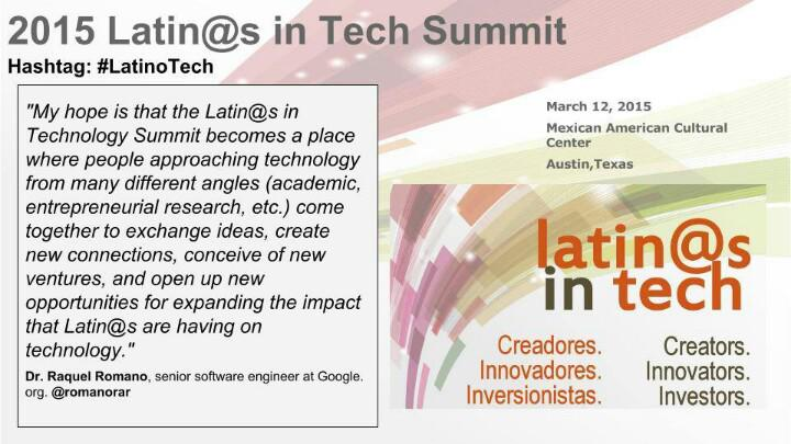 .@romanorar senior software engineer http://t.co/v0jwQ0wJ8c on her hopes for the Latin@s in Tech Summit #LatinoTech http://t.co/6Aq7m933SO