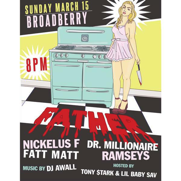 SUNDAY @father w/ @isaiahraps @RealFattMatt @NickelusF | @lilbaabysav x @Tony_TaughtHer Call 8045511036 4 Tix http://t.co/rHy1HreKqt