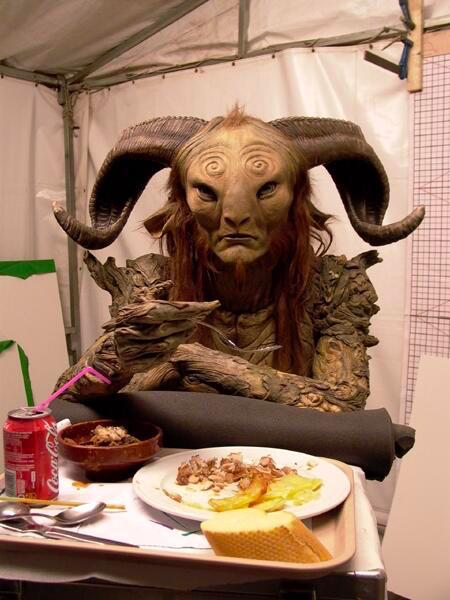 Lunch on the set of PAN'S LABYRINTH (2006) http://t.co/JSraAvIWw5