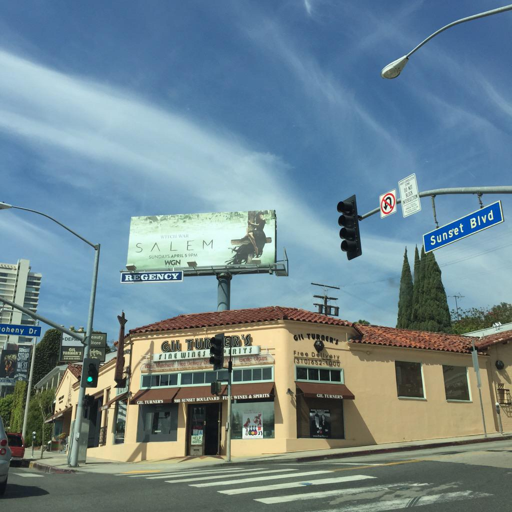 Boom! Just driving down sunset and there's your show @smashleybell @IddoG hope all is well xx #SalemWGNA http://t.co/zxCDcOHBcy
