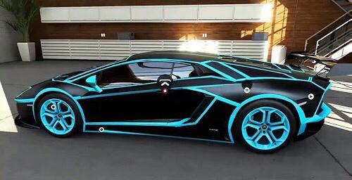 matte black lamborghini with blue details - Lamborghini Black And Blue