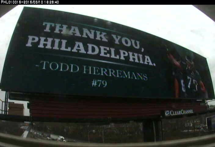 Nice gesture @toddherremans buying billboard to thank Philly.  Class guy http://t.co/kneIqTFOOZ