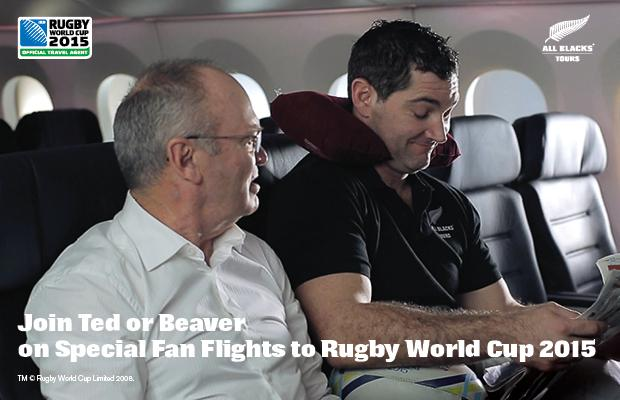 Rugby fan? Fly with Ted or Beaver on @AllBlacksTour Fan Flights to Rugby World Cup 2015!