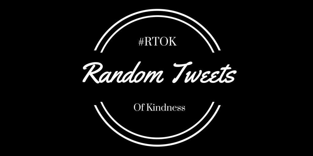 The return of Random Tweets Of Kindness begins...now! Spread the love. http://t.co/y8J0bl1EHh #RTOK http://t.co/dOP5sjIivd