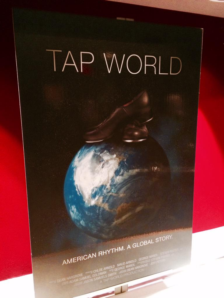 """Watched a documentary called """"Tap World"""" produced by a dear friend and WOW--highly recommend!!  Prepare to feel.... http://t.co/6eW2sToYPx"""