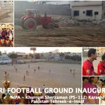 Sharing work of @KhurrumZamanPTI who cleaned up Gizri Football Grnd to make it playable for residents #NA250 #Karachi http://t.co/Z4Fs8I7CPT