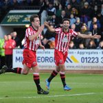 Jose Baxter celebrates his goal in todays FA Cup 2nd rd victory at Cambridge United. #twitterblades #sufc http://t.co/uq2MSCoDk3