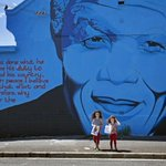 PHOTO via Reuters: A Nelson Mandela wall mural in Cape Town http://t.co/ChuBF2E7Ro