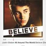 Blasting #AllAroundTheWorld I am EMOTIONAL ???????????????? #lastdayofbelieve http://t.co/iqr9b2SB9w