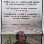 Gary Kubiak took out a full page add in todays Houston Chronicle, thanking the city. Total class act #Texans http://t.co/ComxdeyafN