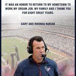 PIC: Gary Kubiak who got fired from the Texans head coaching job a few days ago kept it classy w/this newspaper ad http://t.co/8Z2XRICKmT
