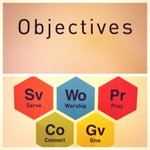 Our Objectives: Worship, Connect, Serve, Pray, Give #VisionSunday http://t.co/cNAT6Pf026
