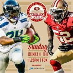 RT @49ers: Its gameday. #BeatTheSeahawks http://t.co/eA2sR0yKzV
