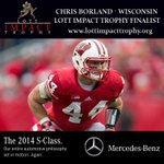 RT if Chris Borland of @BadgerFootball should win the 2013 Lott IMPACT Trophy. Ceremony broadcast TONIGHT at 7PM DST http://t.co/PFcHOxX1C5