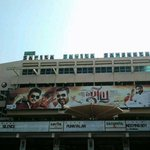 No Teaser. No Trailer & No Audio. But the hype generated for #Jilla is sky high. #Jilla Banner at Saritha Complex http://t.co/mqUZJlPCts