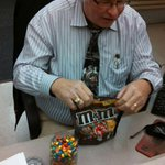 RT: @ahynds This the season for the pouring of the M&Ms. @scj #traditions http://t.co/RMgmprWmor