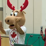Komak the Moose, @CDNOlympicTeam mascot unveiled. So what do you think? #HamOnt http://t.co/iSipYTyHiS http://t.co/B7kTvD18gQ