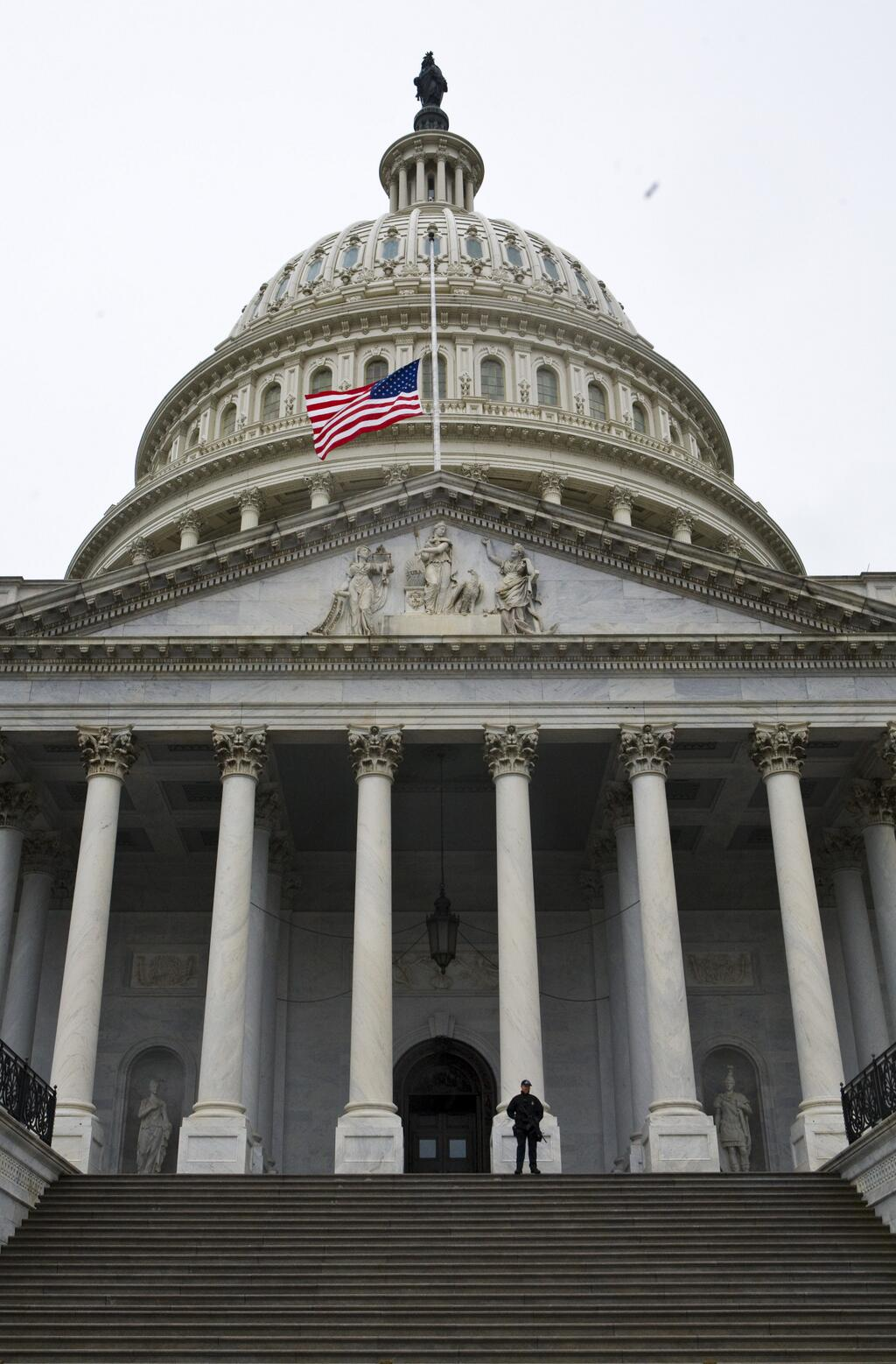 The flags on Capitol Hill fly at half staff in memory of Nelson Mandela #RememberingMandela http://t.co/tyL9O162Zz
