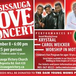 MISSISSAUGA LOVE CONCERT **TONITE** @ 6pm at Mississauga Victory Church. All proceeds to @theDamdropin Young Moms Pgm http://t.co/fknT9Cotad