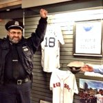 Officer Horgan donated @bostonpolice hat to @TheSportsMuseum #RedSox #WorldSeries exhibit @tdgarden today. Thx! http://t.co/LbQVQre5i1