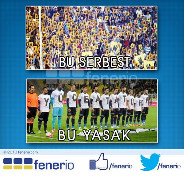 """TFF'nin Atatürk düşmanlığı   TFF, """"YÜCE ATATÜRK"""" tişörtleriyle sahaya çıkan Fethiyespor'u PFDK'ya sevketti. http://t.co/FixnzFVzlu"""