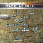 Snowfall Totals so far... #okwx http://t.co/3hmJDoutJw