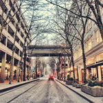 RT @inDowntownPDX: It doesnt get much more majestic than a snowy Downtown Portland. http://t.co/5MTt4fJWiD